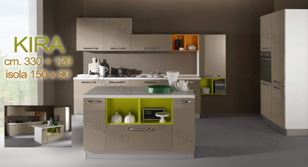 Cucine 360 cm fabulous cucina in olmo bianco e caffelatte for Arredamenti low cost