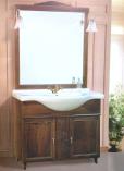 """mobile eco 75 Mobile bagno mod. """"Eco"""" completo di vasca integrale in ceramica, specchio e appliques.  Colori Noce o Cil69,00"""