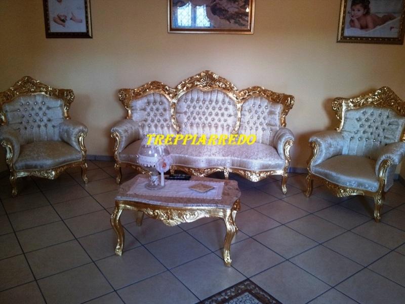 Tavolini Da Salotto Classici Foglia Oro.3p Arredo Arredamento Mobili Negozio Di Mobili Cucine Serie