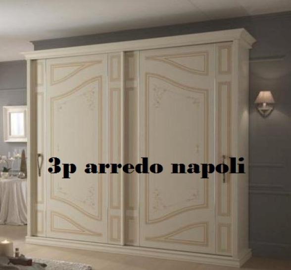 Armadio Classico Avorio Ante Scorrevoli.3p Arredo Arredamento Mobili Negozio Di Mobili Cucine Armadi